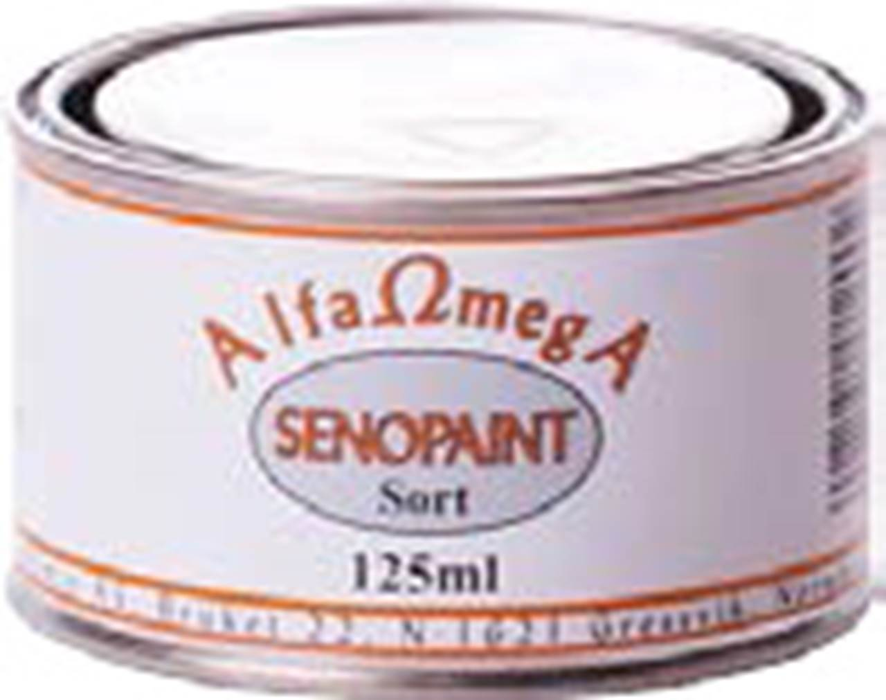 SENOPAINT 1/8 BOX, SORT 700° C  1,25 dl