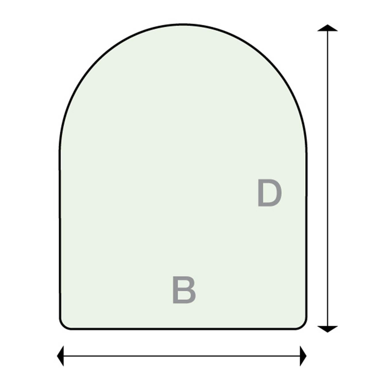 Underlagsplate Glass D klar B70xD90 rund front