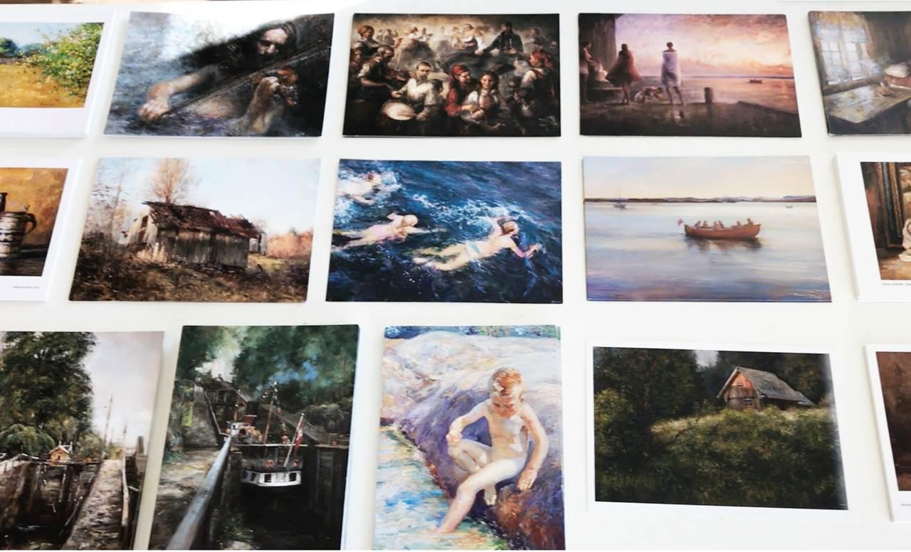 Kunstkort - pakke meed 10 kort fra Johnny Andvik