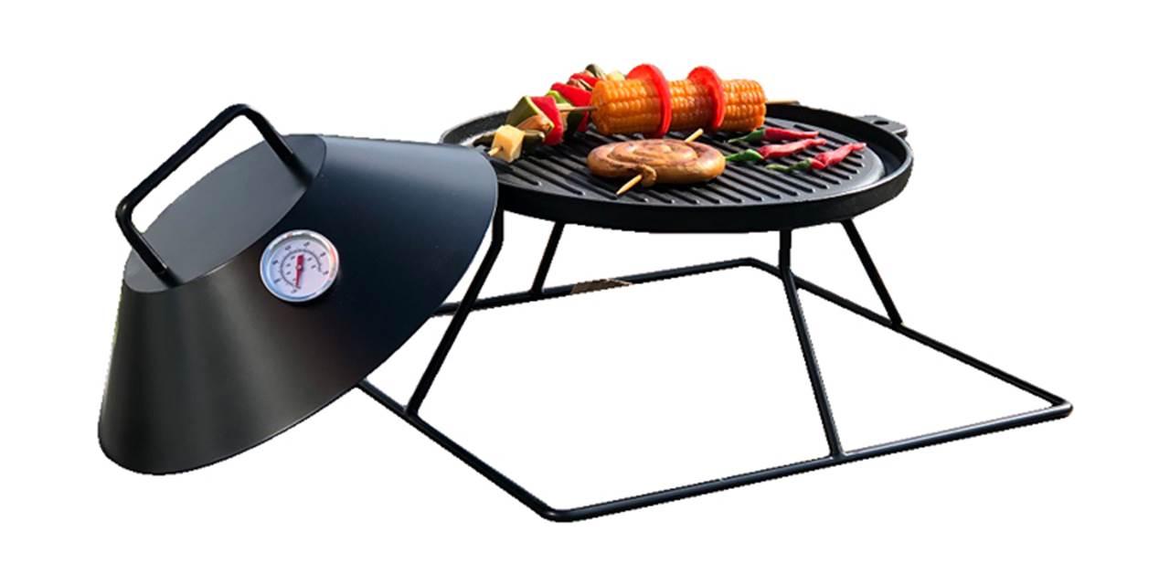 Firestar BBQ grillstativ støpejernsplate