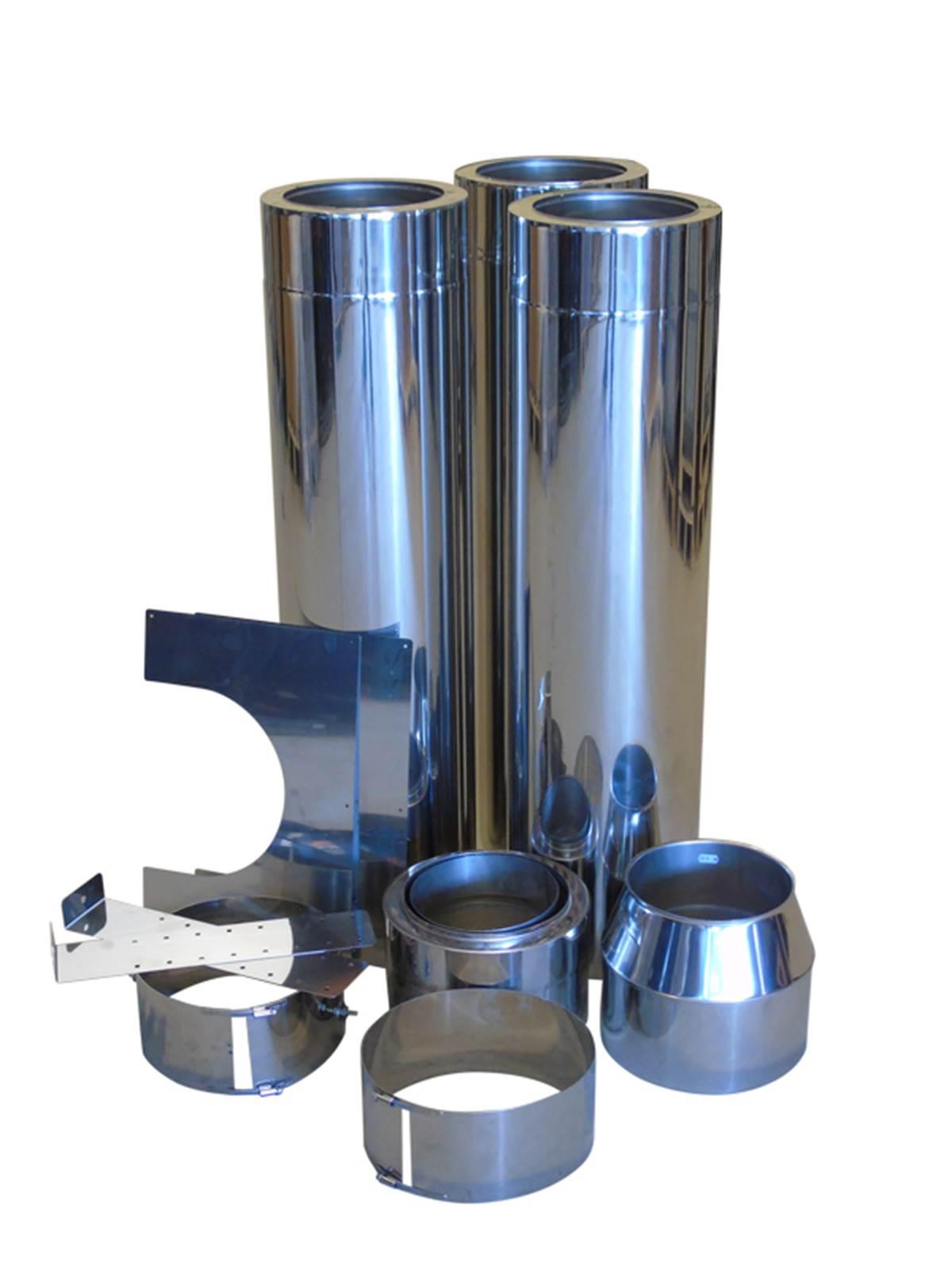 Stålpipepakke L400 cm (400/400) Ø 20 cm