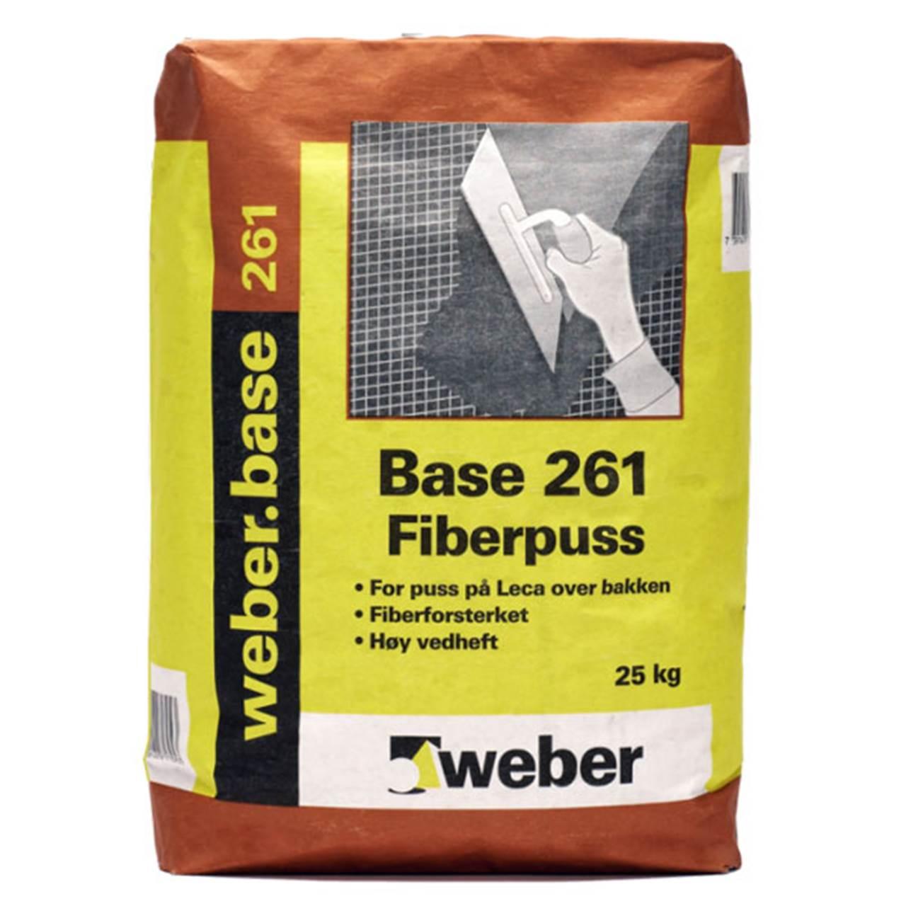 Weber Base 261 Fiberpuss, 25 kg.