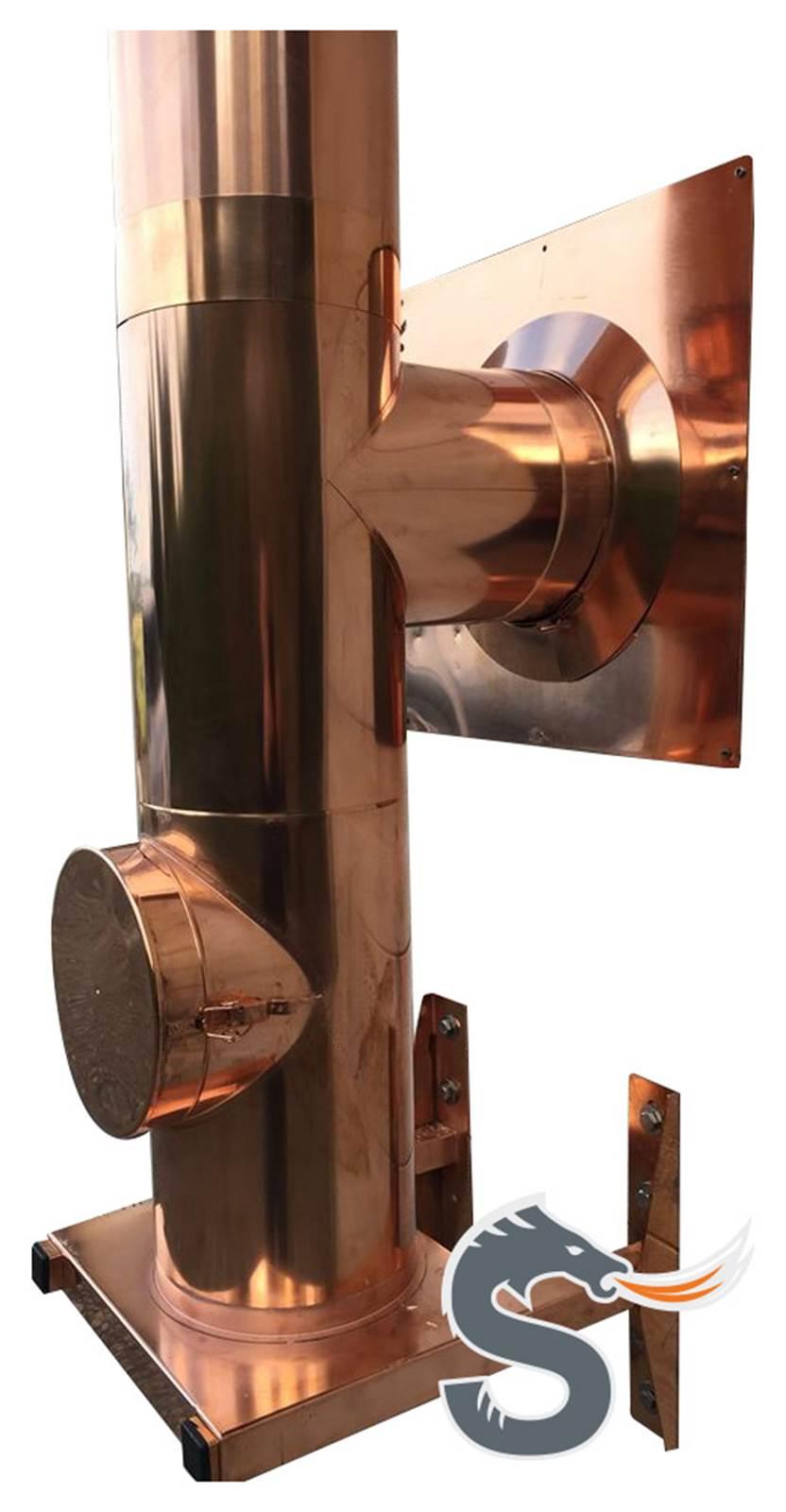 Isolerte stålpiper i kobber