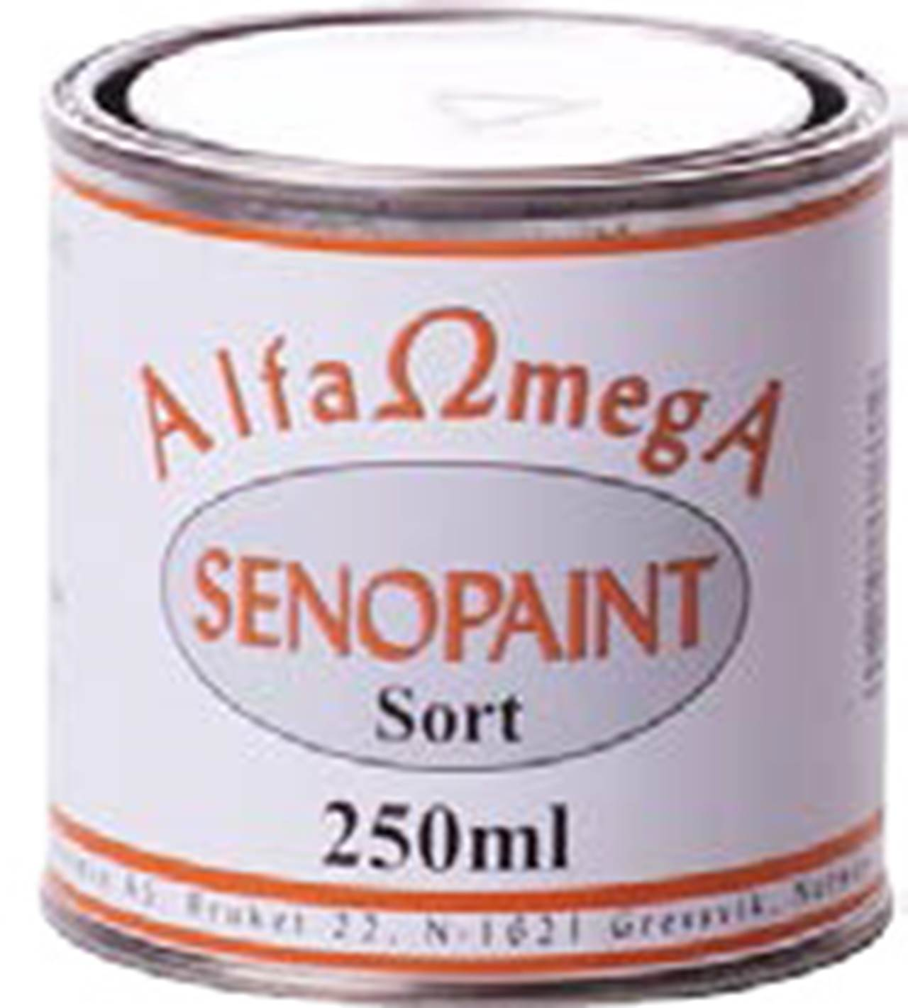 SENOPAINT 1/4 BOX, SORT 700° C  2,5dl