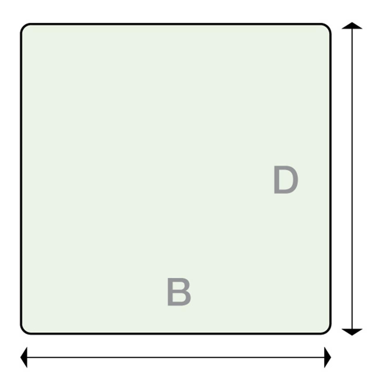 Underlagsplate Glass B90 X D90